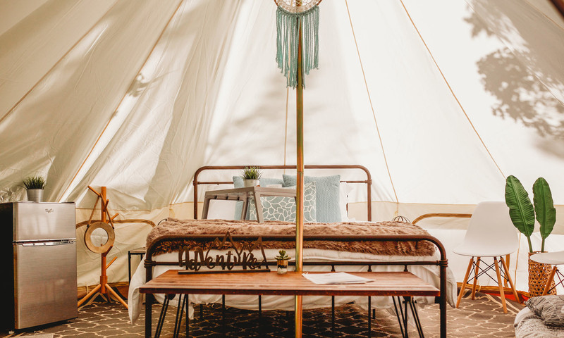 Glamp in style with Georgia Glamping Company at Lake Lanier.