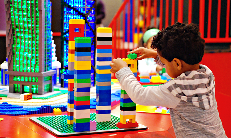 Kids can enjoy building brick fun at LEGOLAND Discovery Center. (Joleen Pete Photography)