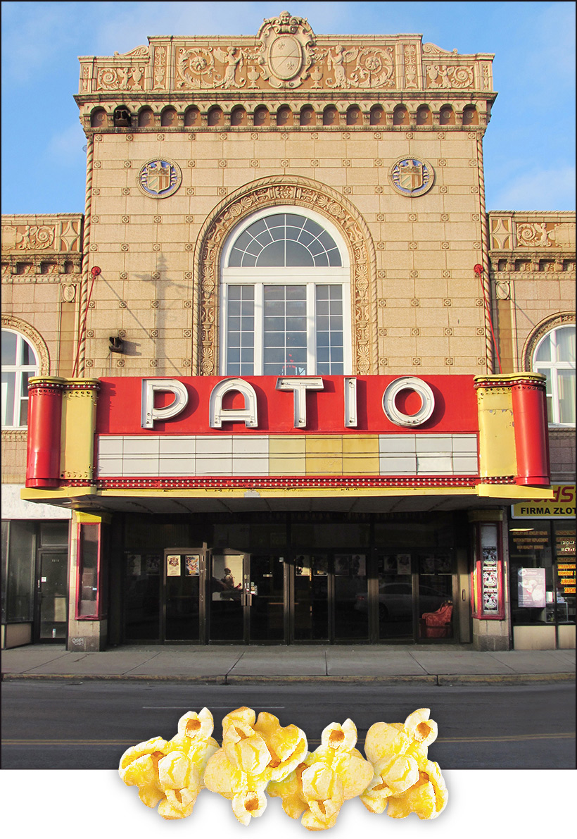 Patio   Front  Vintage Movie Theatre Popcorn 03
