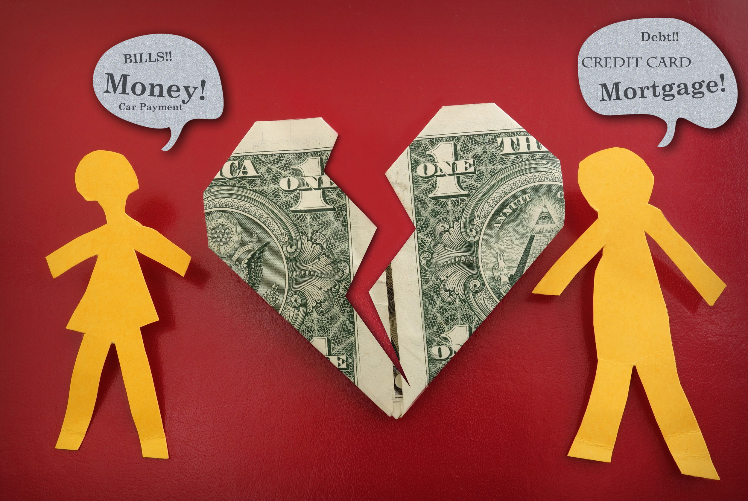 Older couples face money battles
