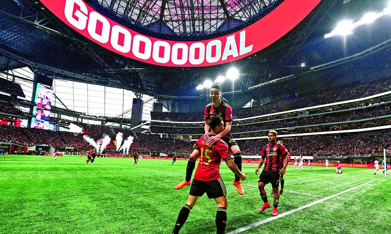 Mercedes-Benz stadium rocks during Atlanta United games.