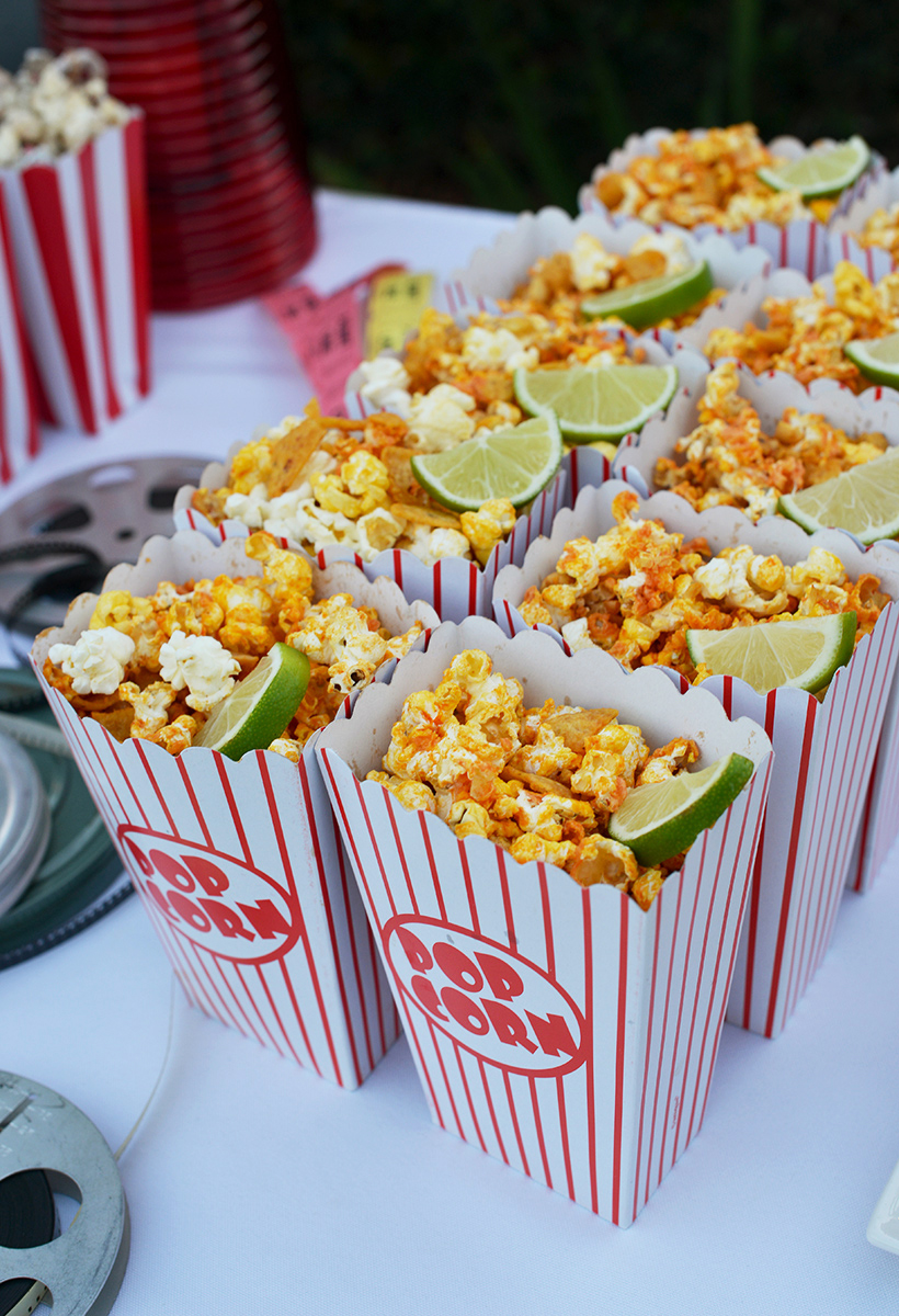 Buffalo-Style Hot Popcorn Snack
