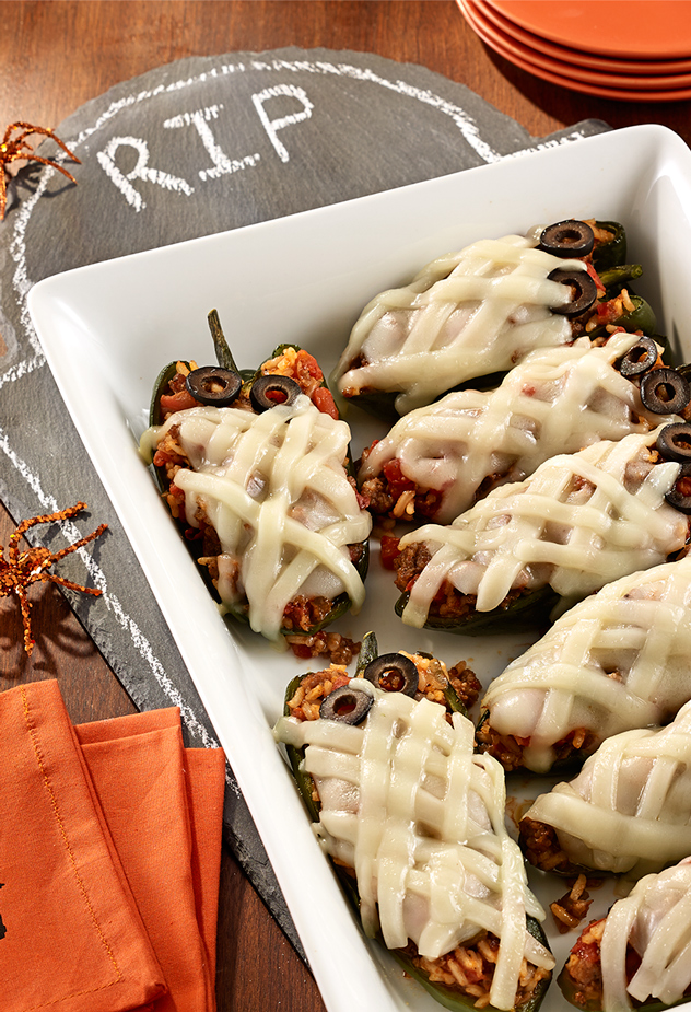 Stuffed Poblano Pepper Mummies Party Recipe
