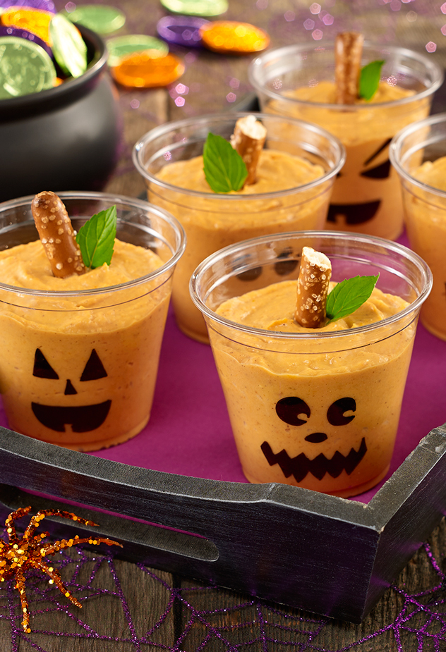 Halloween Pudding Cups Party Recipe