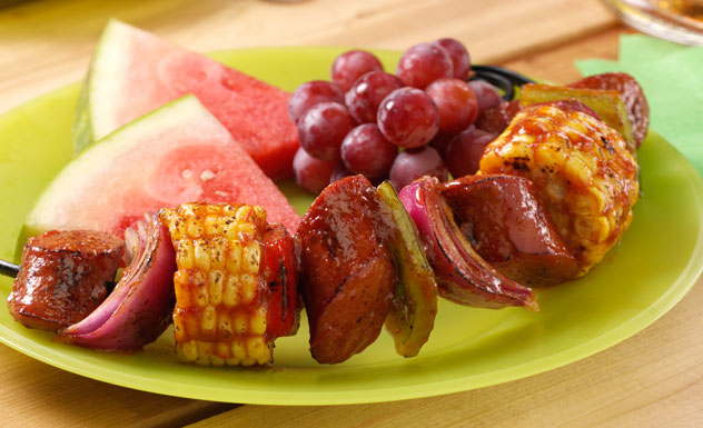 Glazed Frank Kabobs Fall Grill Recipe